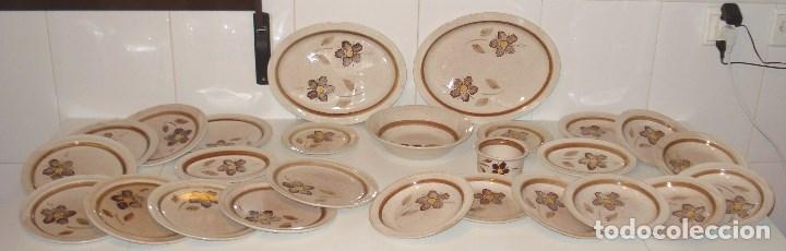 PRECIOSA VAJILLA RETRO - LOZA CERÁMICA GIL VARGAS SEGOVIA (Vintage - Decoración - Porcelanas y Cerámicas)