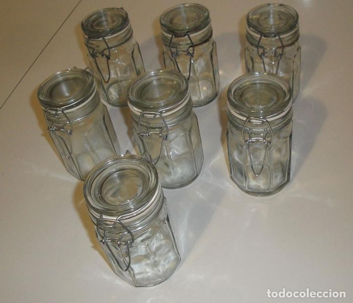7 tarros botes de cocina retro comprar cristal y vidrio for Tarros de cristal vintage