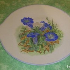 Vintage - Precioso plato con asitas de porcelana pintado a mano,firmado ysesire 1989 - 66945878