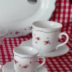 Vintage: ARCOPAL JUEGO DE CAFE MODELO PEQUEÑA FLOR. Lote 67223941