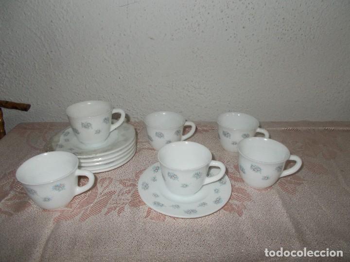 6 TAZAS DE CAFÉ HARMONIA (Vintage - Decoración - Porcelanas y Cerámicas)