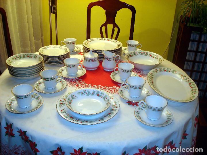 Preciosa vajilla navide a de porcelana comprar porcelana y cer mica vintage en todocoleccion - Vajillas navidenas ...