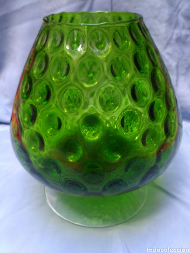 Vintage: Copa de cristal de color verde de los años 50 - Foto 2 - 68213421