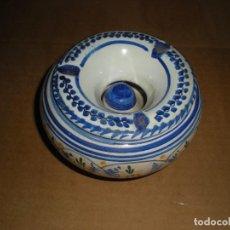 Vintage: CENICERO EN CERÁMICA DE TALAVERA DE LA REINA, PINTADO A MANO. Lote 68650773