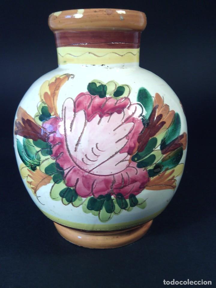 JARRÓN CERÁMICA DE PAOLI. ITALIA. MITAD DEL SIGLO XX. (Vintage - Decoración - Porcelanas y Cerámicas)