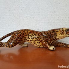 Vintage: LEOPARDO CERÁMICA VINTAGE. Lote 69018417
