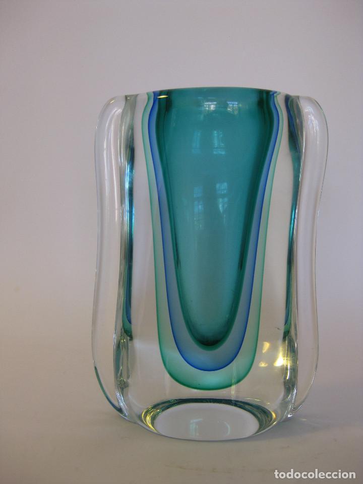 VINTAGE MURANO JARRON LUIGI ONESTO. VINTAGE MURANO VIDRIO (Vintage - Decoración - Cristal y Vidrio)