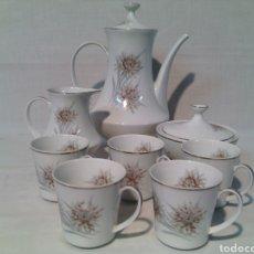 Vintage: JUEGO DE CAFE PORCELANA SANTA CLARA.VINTAGE.. Lote 69776046