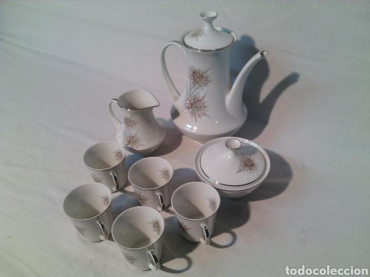 Vintage: JUEGO DE CAFE PORCELANA SANTA CLARA.VINTAGE. - Foto 2 - 69776046