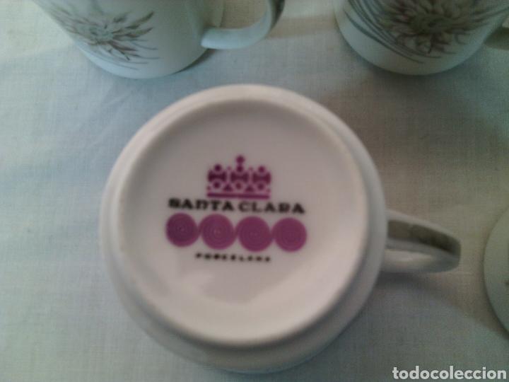 Vintage: JUEGO DE CAFE PORCELANA SANTA CLARA.VINTAGE. - Foto 3 - 69776046