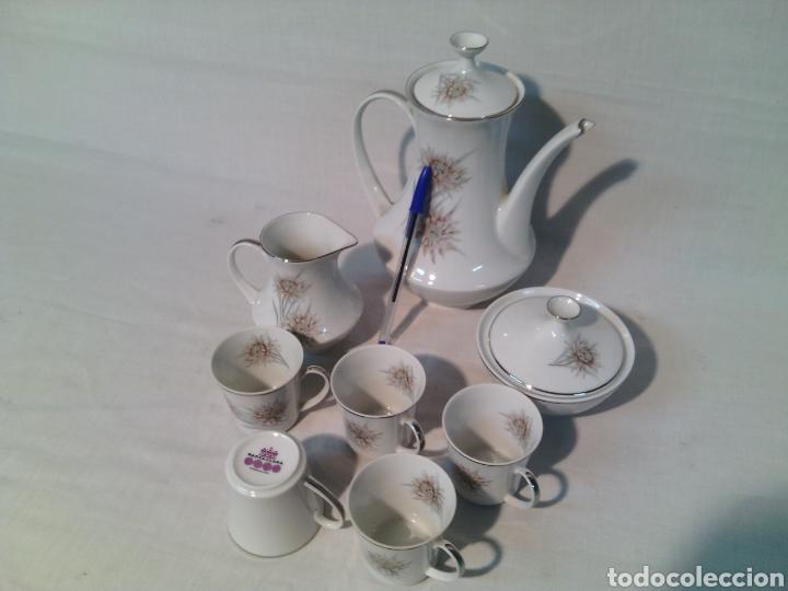 Vintage: JUEGO DE CAFE PORCELANA SANTA CLARA.VINTAGE. - Foto 5 - 69776046