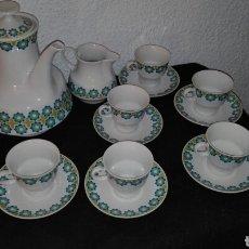 Vintage: JUEGO DE CAFÉ VINTAGE, DE LOS 70 DE PORCELANA DE 15 PIEZAS, MOAHSA SPAIN. Lote 69907835
