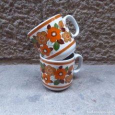 Vintage: 2 TAZAS DE CAFÉ EN PORCELANA MONOPOLI, 60S. Lote 69987581