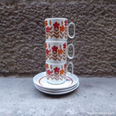 Vintage: 3 TAZAS DE CAFÉ EN PORCELANA TOGNANA, 70S. Lote 70002985