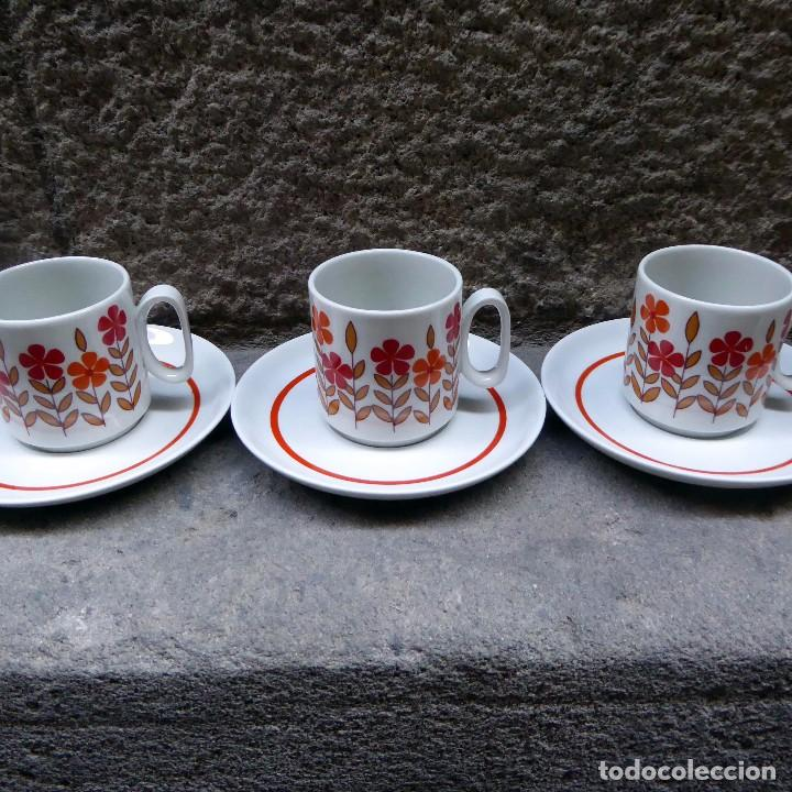 Vintage: 3 tazas de café en porcelana Tognana, 70s - Foto 2 - 70002985