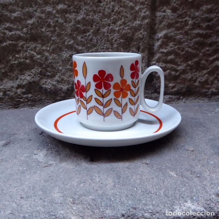 Vintage: 3 tazas de café en porcelana Tognana, 70s - Foto 3 - 70002985