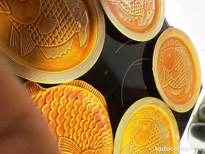 Vintage: juego platos cerámica Segovia vidriada- Gil Vargas- - Foto 2 - 70076329