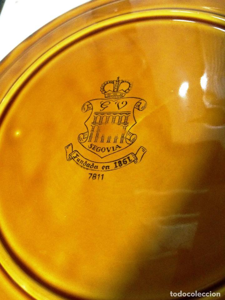 Vintage: juego platos cerámica Segovia vidriada- Gil Vargas- - Foto 4 - 70076329