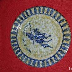 Vintage: DON QUIJOTE. PLATO EN CERAMICA DECORATIVO, PARA COLGAR. . Lote 114293335