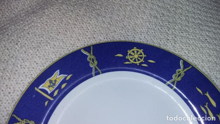 Vintage: 2 fuentes de porcelana Sandra Rich, de Alemania. 1 ovalada de 29x38 cm. y 1 redonda de 31 cm. - Foto 2 - 70418093