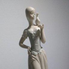 Vintage: FIGURA PORCELANA MUJER PALOMA MATE MADE IN SPAIN VINTAGE. Lote 71496895