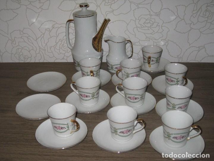 JUEGO DE CAFÉ PORCELANA SANBO (Vintage - Decoración - Porcelanas y Cerámicas)