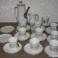 Vintage: JUEGO DE CAFÉ PORCELANA SANBO. Lote 71615443