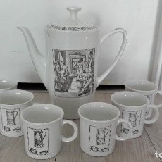 Vintage: JUEGO CAFE CAFETERA PORCELANA VINTAGE. Lote 71627647