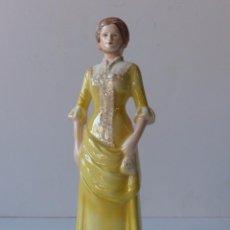 Vintage: AFTERNOON TEA 1875. SERIE HISTORIA DE LA MODA. PORCELANA GOEBEL. ALEMANIA 1970. Lote 71648963