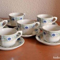 Vintage: PONTESA JUEGO 6 TAZAS PORCELANA. Lote 72031811