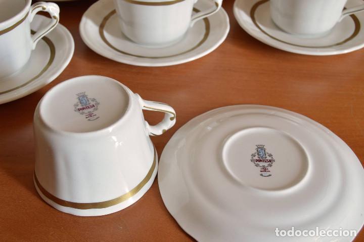 Vintage: PONTESA JUEGO 6 TAZAS PORCELANA - Foto 2 - 72125103