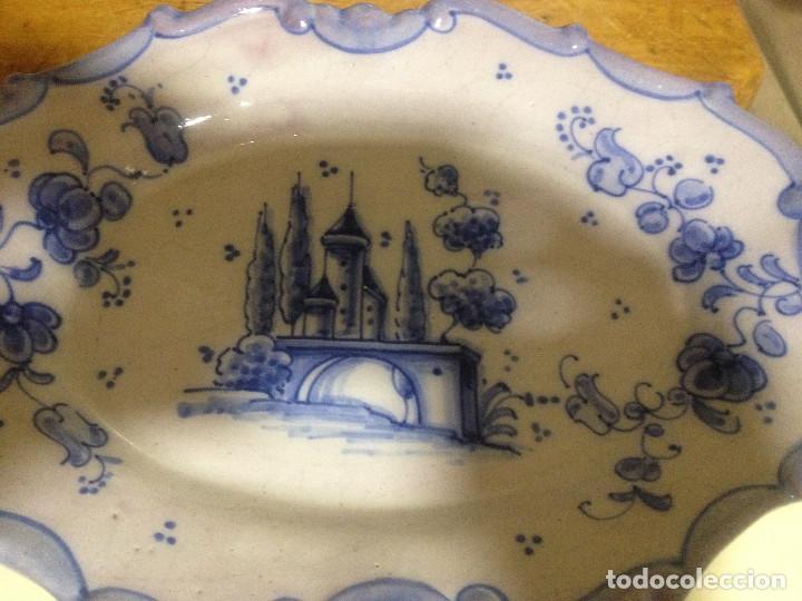 FUENTE DECORATIVA COLGAR CERÁMICA LUFECO- VALENCIA- PINTADA A MANO (Vintage - Decoración - Porcelanas y Cerámicas)