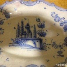 Vintage: FUENTE DECORATIVA COLGAR CERÁMICA LUFECO- VALENCIA- PINTADA A MANO. Lote 72172583