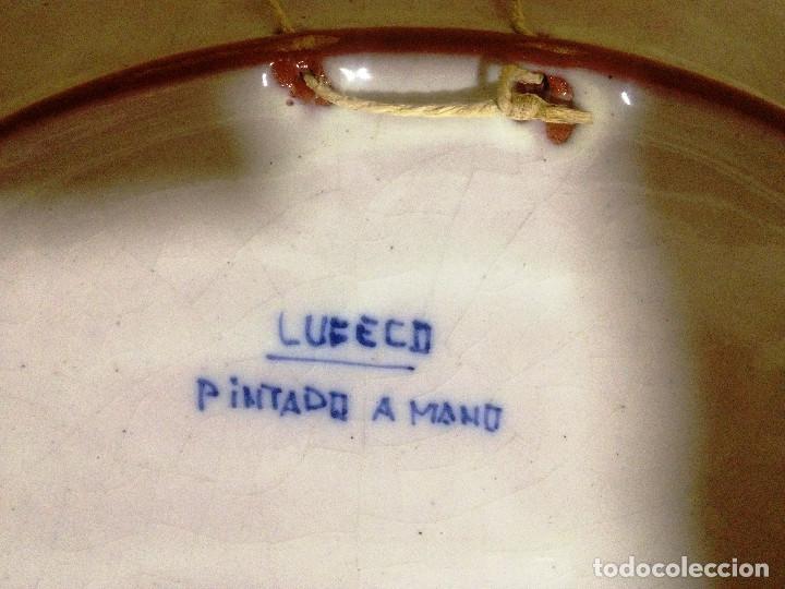 Vintage: Fuente decorativa colgar cerámica LUFECO- Valencia- Pintada a mano - Foto 3 - 72172583