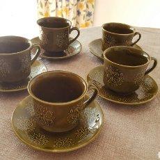 Vintage: 5 TAZAS DE CAFÉ PONTESA CON PLATO. AÑOS 70. VINTAGE. PARA NESCAFÉ. Lote 73067529