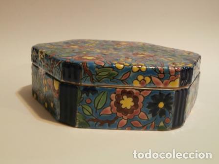 CAJA PORCELANA FRANCESA LONGWY ? (Vintage - Decoración - Porcelanas y Cerámicas)
