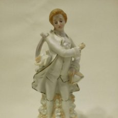 Vintage: PORCELANA CABALLERO BISCUIT MODERNISTA, ART NOUVEAU, JUGENDSTIL, FRANCIA. Lote 75312875