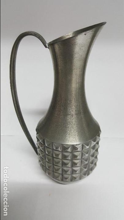 ANTIGUA JARRA DE AGUA EN ALEACION DE ESTAÑO DE - PEWTER MASTAD NORWAY - (Vintage - Decoración - Jarrones y Floreros)