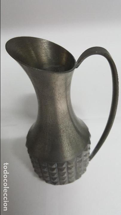 Vintage: ANTIGUA JARRA DE AGUA EN ALEACION DE ESTAÑO DE - PEWTER MASTAD NORWAY - - Foto 4 - 76321971