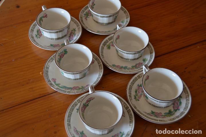 PONTESA JUEGO 6 TAZAS DE CAFÉ DE PORCELANA (Vintage - Decoración - Porcelanas y Cerámicas)