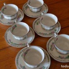 Vintage: PONTESA JUEGO 6 TAZAS DE CAFÉ DE PORCELANA. Lote 188526260