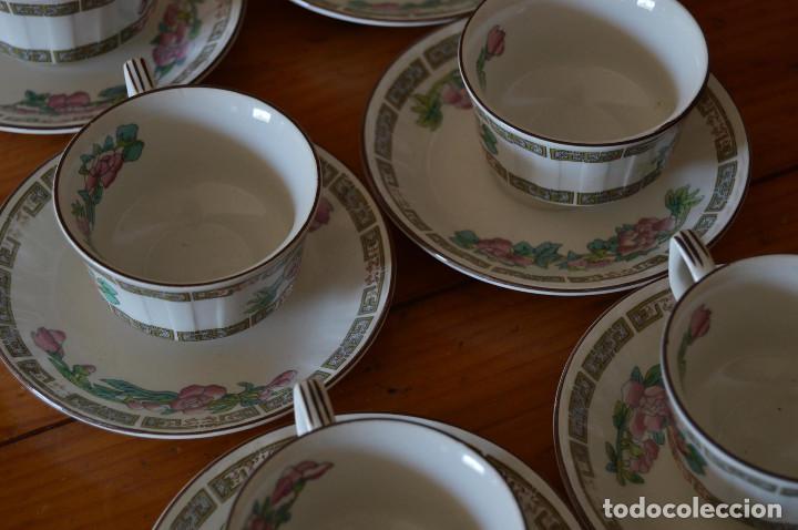 Vintage: PONTESA JUEGO 6 TAZAS DE CAFÉ DE PORCELANA - Foto 3 - 76507959