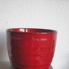 Vintage: PRECIOSO JARRÓN CERÁMICA ALEMANA ROJO SCHEURICH GRANDE VINTAGE. Lote 76677691