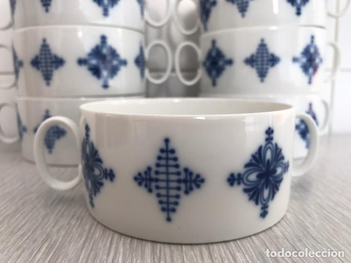 Vintage: Juego 7 de tazas de consomé. Porcelana vintage Thomas Alemania - Foto 2 - 76867109