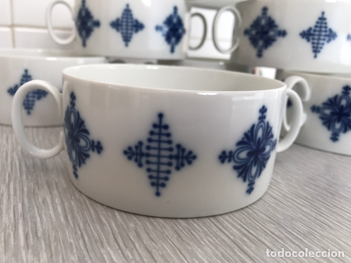 Vintage: Juego 7 de tazas de consomé. Porcelana vintage Thomas Alemania - Foto 3 - 76867109