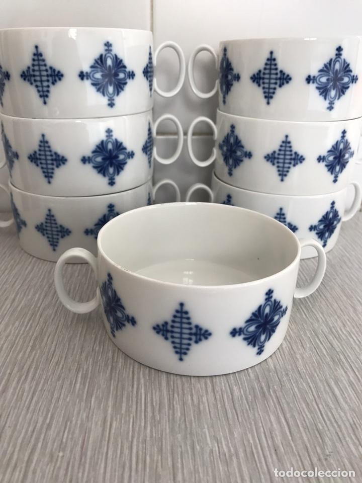 Vintage: Juego 7 de tazas de consomé. Porcelana vintage Thomas Alemania - Foto 6 - 76867109
