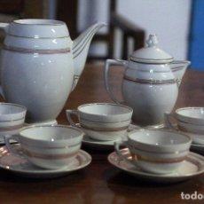 Vintage: JUEGO DE TE - CAFÉ,EN PORCELANA, CON 5 TAZAS, VINTAGE. Lote 76909871