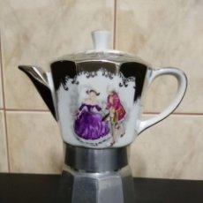 Vintage: CAFETERA ALPU PORCELANA Y METAL - DIFICIL . Lote 77270909