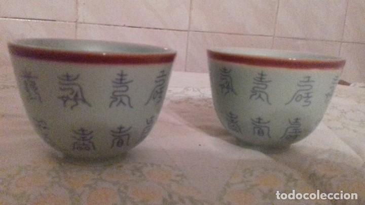 Vintage: Lote de 2 vasitos de porcelana chinos,color verde suave, - Foto 3 - 78283553