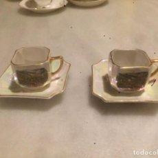 Vintage: ANTIGUA 2 TAZA / VAJILLA DE JUEGO DE CAFÉ DE PORCELANA FINA DE LOS AÑOS 50-60 . Lote 78351369